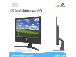 17 Inch Ultrathin All-in One PC LCD Resistive Touch Screen PC