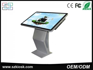 49inch high brightness stand alone LCD indoor advertising digital signage with touch screen