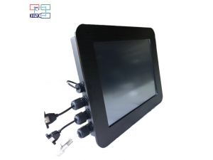 Fanless black/silver 15inch IP65 touch screen industrial all in one pc