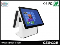 China China cheap machine 15 inch two touch screen terminal for Restaurant pos system factory