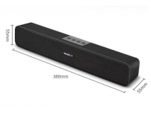 Sound Bar Speaker Blueth Bass Subwoofer wireless 3.5mm Aux Audio Spdif Playback musicale per PC Teatro TV Speaker