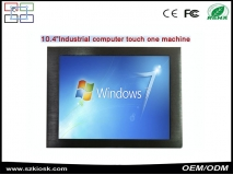 China wholesale 10.4'inch industrial all in one PC+win7/10+resistive touch+fanless factory