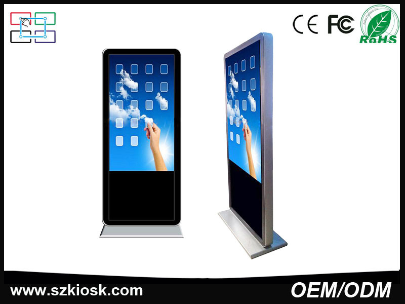 65 Inch Free Standing Advertising LCD Touch Screen Digital
